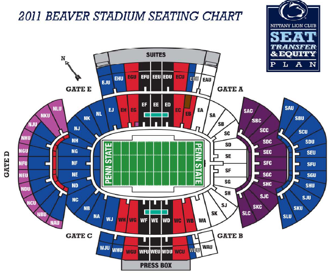 Beaver Stadium Seating Chart Png674x553